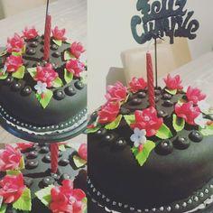 Torta decorada flores