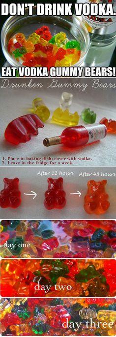 DIY Vodka Gummy Bears alcohol diy recipe recipes summer recipes party ideas diy food party favors diy party ideas