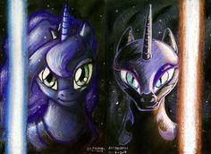 Jedi Luna & Sith Nightmare Moon fan-art
