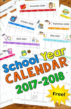 Have you grabbed YOUR free 2017-2018 School Year Calendar from Laura Candler? The portrait-style pages are perfect for storing in 3-ring binders!