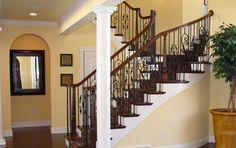 Beautiful wrought iron staircase by Maleno Development