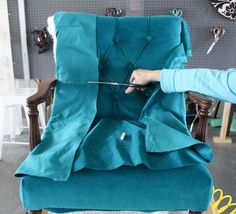 How to upholster the inside back of a chair