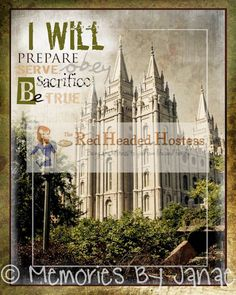 """""""I Will"""" Temple Youth Design (cool gifts for girls free printable) Red Headed Hostess, Lds Church, Church Ideas, Best Gifts For Girls, Salt Lake Temple, Temple Pictures, Visiting Teaching, Lds Temples, Lds Quotes"""