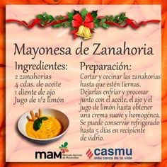 Mayonesa de zanahoria Vegetarian Recepies, Vegan Snacks, Vegan Recipes, Cooking Recipes, Fruit Recipes, Appetizer Recipes, Cocina Natural, Gourmet Sandwiches, Healthy Lifestyle Habits