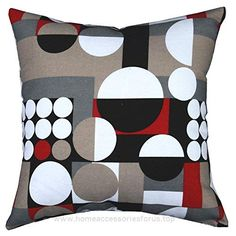 Multi-sized Both Sides Geometric Round Printed Cushion Cover LivebyCare Linen Cotton Throw Pillow Case