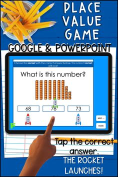 Wondering how you'll keep your first graders engaged during distance learning? Try this fun digital place value game that is self-checking for immediate feedback! It's perfect for face-to-face, your virtual classroom, and blended learning. When the correct answer is tapped, the rocket launches!! So much fun! Your kids will love this cute virtual space-themed game. Super motivating! Fifth Grade, Second Grade, Place Value Activities, Base Ten Blocks, Letter To Parents, School Closures, Blended Learning, Place Values, Kids Learning