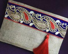 Ethnic handbag womens clutch bohobag clutch purse bohemian