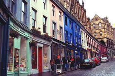   ♕   Steep street in Edinburgh   by © Stephanie S