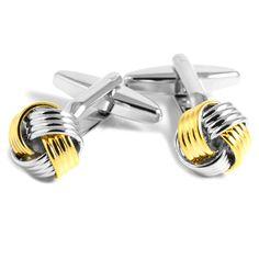 Guld/Sølv Snoede Manchetknapper - 149,00kr