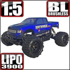 RAMPAGE XT-E 1/5 SCALE ELECTRIC MONSTER TRUCK BLUE - OMGRC online Hobby shop