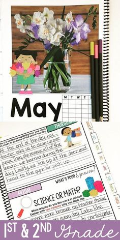 Bell ringer journal for 1st and 2nd grade   275 writing prompts   seasonal journal prompts   classroom routine   first grade writing   second grade writing