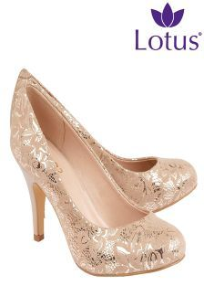 Lotus Print Court Shoes