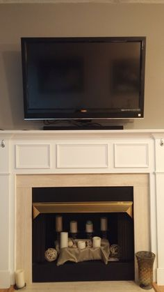 Pull Down Tv Mount For Flat Screen Over The Fireplace Mantelmount