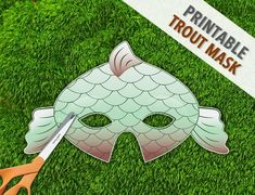Goldfish Mask Fish Mask Photo Prop Printable by theRasilisk Printable Halloween Masks, Printable Masks, Halloween 4, Party Printables, Halloween Costumes, Animal Themed Birthday Party, Fish Mask, Last Minute Costumes, Paper Mask