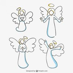 Angels line art vector graphics Doodle Art, Doodle Drawings, Angel Clipart, Line Art Vector, Angel Drawing, Christmas Rock, Sketch Notes, Angel Art, Stone Art
