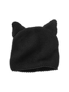 Black Cat Knit Hat