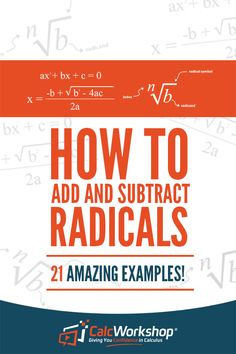 Learn how to add, subtract and multiply radical expressions, including square roots. And also discover how to easily estimate the value of a square root without a calculator. Algebra 2 Help, Algebra 1, Inverse Functions, Linear Function, Algebra Equations, Solving Equations, Linear Programming, Radical Expressions, Absolute Value