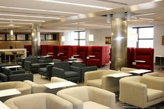 Delta Sky Club D Concourse - Lounge Chairs, Pod Chairs, Bar Stools & Laptop Tables