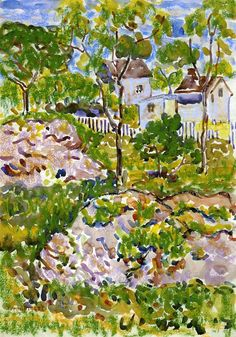 Maurice Prendergast - Farmhouse in New England