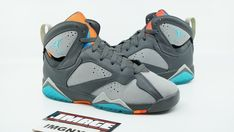 new concept 157c6 2df0e AIR JORDAN VII 7 RETRO BG USED SIZE 4.5 BARCELONA DAY GREY TURQUOISE 304774  016 fashion clothing shoes accessories kidsclothingshoesaccs  boysshoes ...