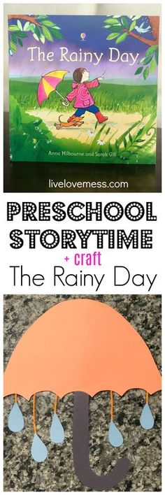 learning about rain, preschool weather theme, preschool weather unit, usborne books, umbrella craft, toddler reading, books for kids, preschool storytime, rainy day