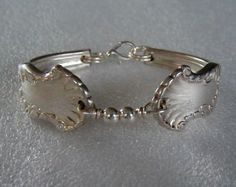 Spoon Bracelet Recycled Silverware Jewelry Concerto Sterling Silver Beads Made to Order