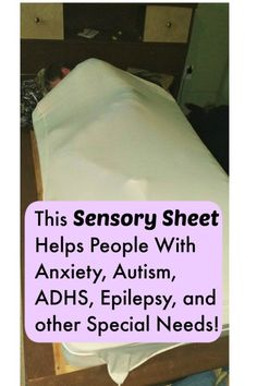 This sensory sheet helps people with anxiety, autism, ADHD, epilepsy, and other special needs