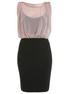 Epaulette Blouson Top Dress - Going Out - Miss Selfridge