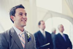 Just love shots of the groom seeing his bride for the first time walking down the aisle.