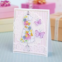 Floral mannequin card from Papercraft Inspirations 155