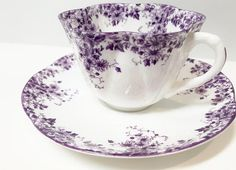 Shelley Tea Cup and Saucer Shelley Dainty Mauve Pattern
