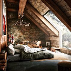 « Cabin Dream Home  Amazing glass mirror morning view!