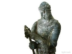 Antique French Spelter Knight of the Crusades by tippleandsnack