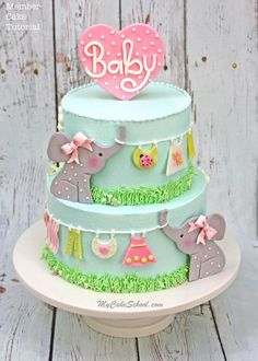 Roundup of the CUTEST Baby Shower Cakes, Tutorials, and Ideas! | My Cake School #cakedesigns