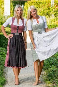 Unique, colorful and happy! Lena Hoschek we love your band skirts - dirndl - Dirndl Dress, Barefoot Girls, German Women, German Fashion, Medieval Dress, Folk Costume, Mode Inspiration, Sexy Feet, Traditional Dresses