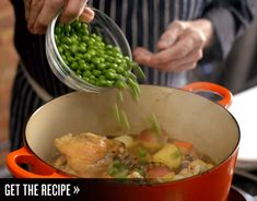 Chef Jacques Pépin shares his mother's stellar garden chicken recipe. Entree Recipes, Chef Recipes, Real Food Recipes, Cooking Recipes, Duck Recipes, Chicken Recipes, Jacques Pepin Recipes, Chicken Bird, Jacque Pepin