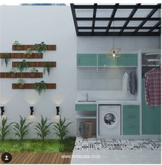 58 Ideas Cars Interior Design Spaces For 2019 Laundry Room Layouts, Small Laundry Rooms, Laundry Room Design, Small Space Interior Design, Home Room Design, Outdoor Laundry Area, Laundry Room Inspiration, Home Decor Kitchen, Modern House Design