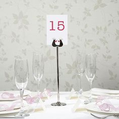 CHROME HEART PATTERN TABLE NUMBER HOLDERS PACK OF 15 GREAT VALUE!!!