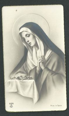 Holy card antique of Virgin Dolorosa santino image pieuse andachtsbild estampa Catholic Art, Religious Art, Christus Tattoo, Pieta Statue, Jesus Drawings, Lds Pictures, Our Lady Of Sorrows, Religious Tattoos, Mary And Jesus
