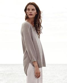 Image of Buttoned-back cashmere sweater