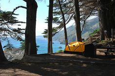 """The two campsites at Julia Pfeiffer Burns State Park in Big Sur are consistently rated as two of the best on the West Coast. They're also consistently booked up six months out. Fortunately for me, I visited the State Parks website right when someone else canceled their Sunday night reservation for spot #2, the """"South Garden"""" site."""