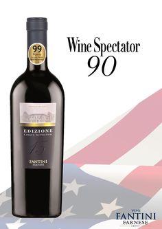 """Edizione Cinque Autoctoni: 90 Points """"Wine Spectator"""" - december 2016. #winespectator #awardedwine #edizione #cinqueautoctoni #bestwine #bestitalianwine #bestredwine #vinorosso #southitaly #italianwine #vinoitaliano"""