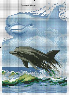 grille de tricot ou crochet d'un dessin avec des annimaux : Autres Tricot et Crochet par la-boutique-de-steph
