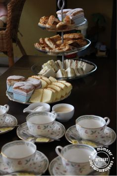 English tea party with Twinings and cheesecake. Fancy!