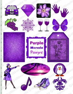 PURPLE STUFF on 85x11 Sheet Things that are by H20worksDesigns, $4.25