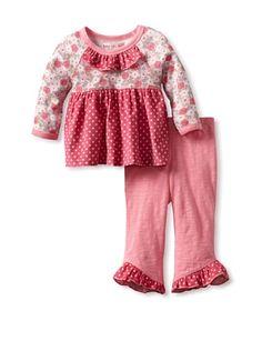 65% OFF Baby Lulu Baby Pink Dot Donna 2-Piece Set (Pink)