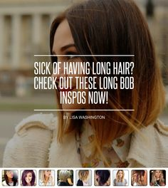 Sick of #Having Long Hair? Check out These Long Bob Inspos Now! - Hair