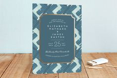 Gallery Label Foil-Pressed Wedding Invitations by Ashley Hegarty at minted.com