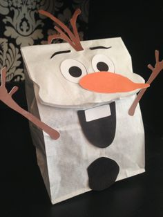 Do You Want To Build A Snowman? Adorable craft/goodie bag! Book our snow sisters for your event today! StorybookEncounters.com