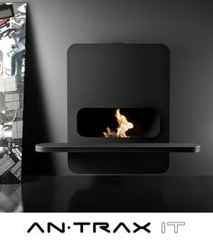 Antrax Kfc Box, Bioethanol Fireplace, Electric Fireplace, Wood Burning, Industrial Design, Interior Architecture, Stove, Detail, Living Room